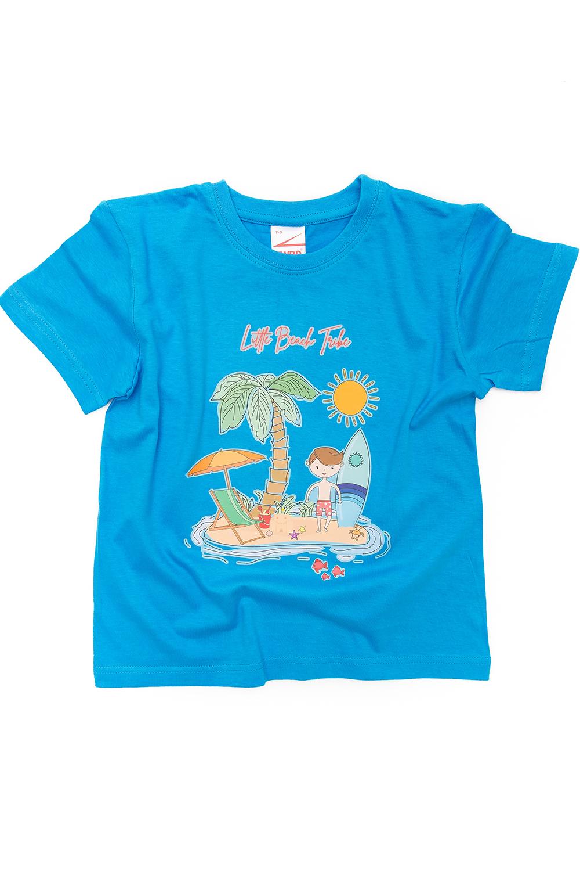 Blue T-shirt surfer