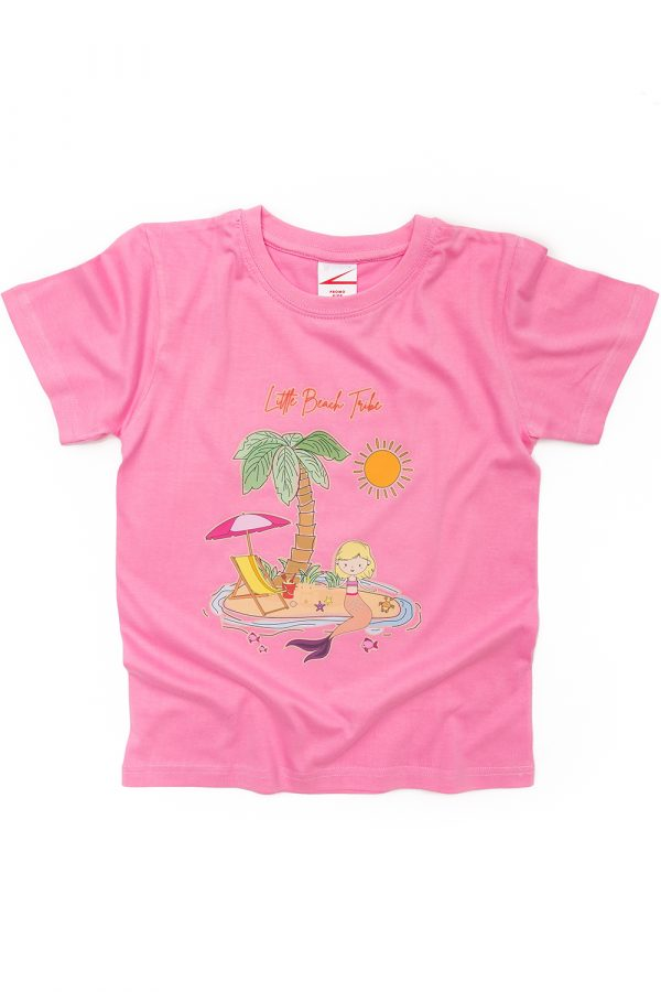 Pink T-shirt mermaid