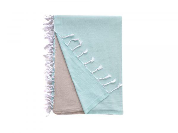 Turkish beach blanket horizons mint